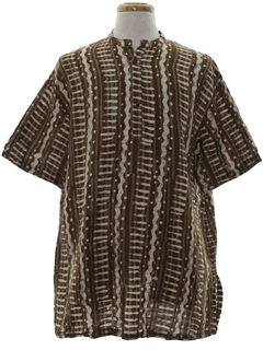 1990's Mens Ethnic African Style Hippie Shirt