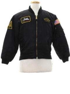 1980's Mens Reversible Bomber Airforce Flight Jacket