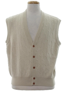 1980's Mens Preppy Totally 80s Golf Sweater Vest