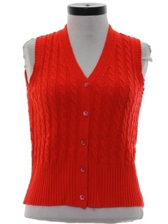 1970's Womens Sweater Vest