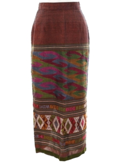1980's Womens Guatemalan Style Hippie Skirt