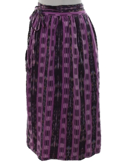 1980's Womens Guatemalan Style Hippie Wrap Skirt