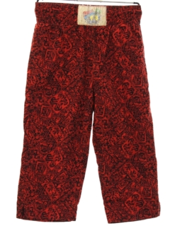 1980's Mens Totally 80s Print Baggy Cropped Pants