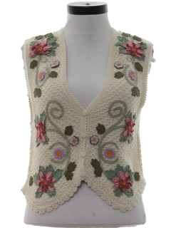 1990's Womens Alpaca Wool Sweater Vest