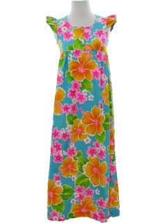 1960's Womens/Girls Mod Hawaiian Mai Dress