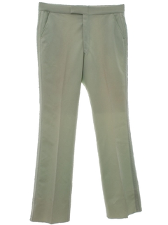 1970's Mens Leisure Style Tuxedo Pants