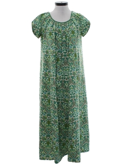 1960's Womens Hawaiian Hippie Dress