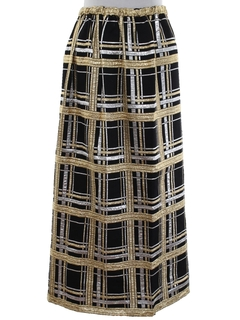 1970's Womens Cocktail Maxi Skirt