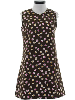 1970's Womens Mod A-Line Dress