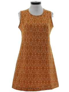 1970's Womens Mod A-Line Knit Dress