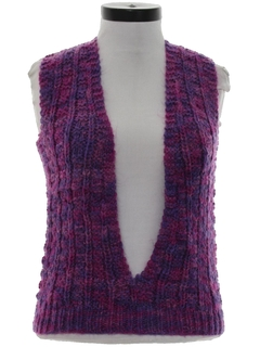 1970's Womens or Girls Hippie Sweater Vest