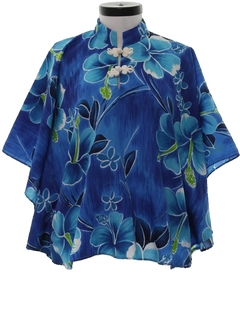 1970's Womens Hawaiian Butterfly Shirt