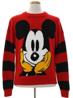 1980's Mens Mickey Mouse Sweater