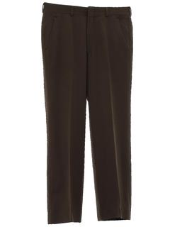 1980's Mens Mod Flat Front Pants