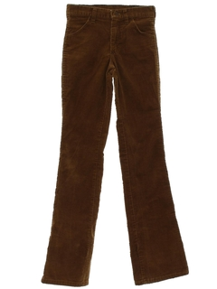 1970's Mens/Boys Flared Mod Corduroy Pants