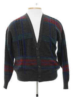 1980's Mens Cardigan Style Cosby Sweater