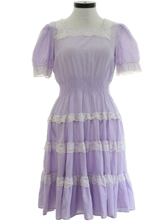 1970's Womens Prairie Style Square Dance Dress