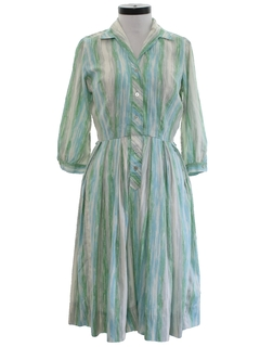1960's Womens Mod Cotton Day Dress