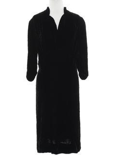 1940's Womens Velvet Dress