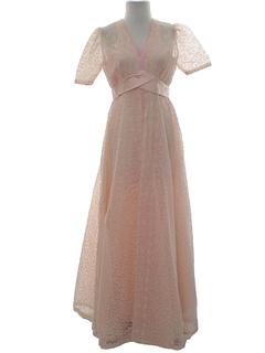 1970's Womens Prom Maxi Dress