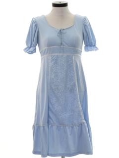 1970's Womens Hippie Prairie Style Dress