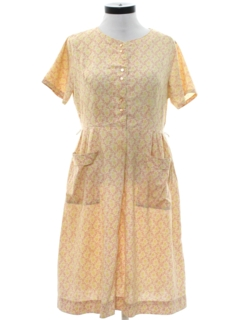 1950's Womens Mod House Dress
