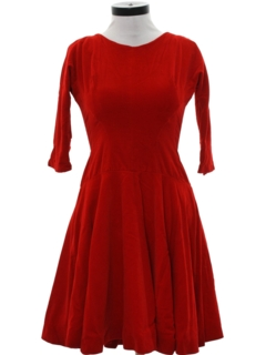 1950's Womens Velvet Cocktail Dress