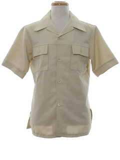 1970's Mens Mod Safari Shirt