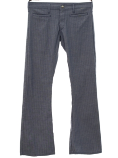 1960's Mens Flared Bellbottom Style Low-Rise Hiphugger Pants