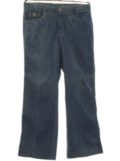 1980's Mens Flared Jeans-cut Pants