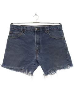 1980's Mens Denim Cut Off Shorts