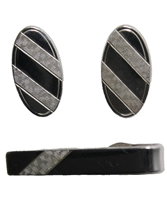 1960's Mens Accessories - Cufflink and Tie Clip Set
