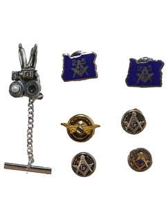 1960's Mens Accessories - Tie Tack and Pin Set