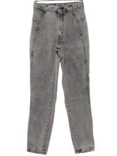 1980's Womens Totally 80s Acid Wash High Waisted Jeans Pants