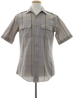 1980's Mens Totally 80s Safari Style Shirt
