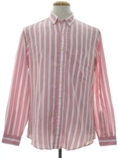 1980's Mens Preppy Mod Totally 80s Shirt