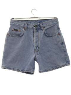 1980's Womens Designer Totally 80s Stone Washed Denim Jeans Shorts