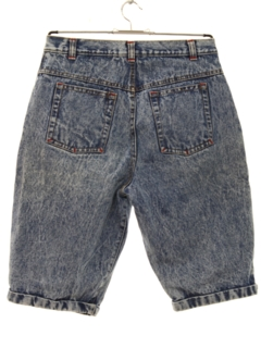1980's Womens Acid Washed Denim Jeans Shorts