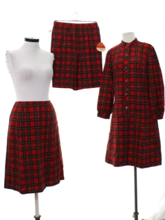 1960's Womens Dress, Skirt And Short Set