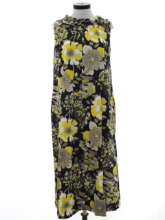 1960's Womens Floral Dress