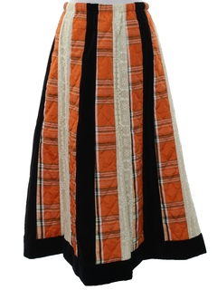1970's Womens Boho Maxi Hippie Skirt