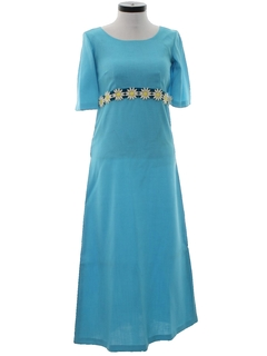 1970's Womens Maxi Prom Dress