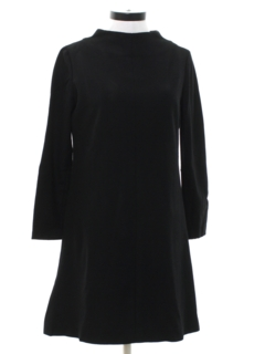 1960's Womens Mod A-Line Wool Dress