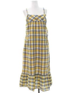1980's Womens A-Line Hippie Sun Dress