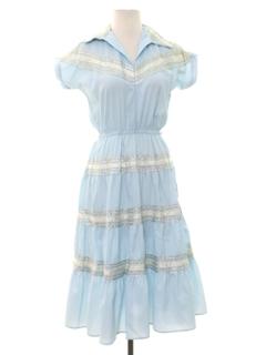 1960's Womens Western Style Dress