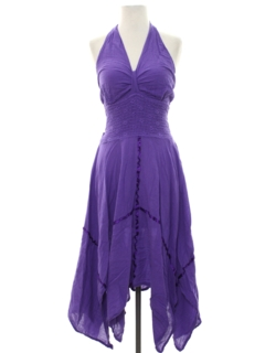 1980's Womens Totally 80s Halter Dress