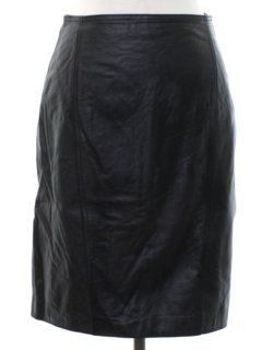 1980's Womens Totally 80s Leather Skirt