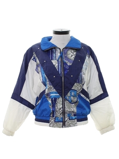 1980's Womens Golden Girls Style Wind Breaker Jacket
