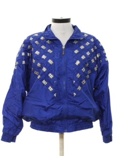 1980's Womens Totally 80s Golden Girls Style Wind Breaker Jacket