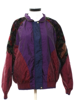 1990's Womens Hip Hop Style Wind Breaker Jacket